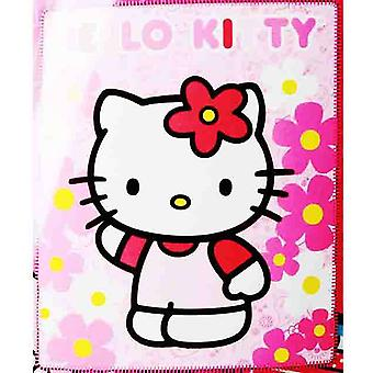 Blanket - Hello Kitty - Pink Sunflwers New 50x60