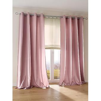 Heine home set of 2 curtain decostore uni-coloured opaque light shiny eyelets HxB 175x140 cm