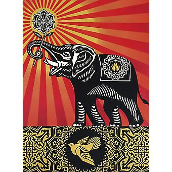 Shepard Fairey Kunstdruck Peace Elephant Papier 250 gr. matt Kleinformat
