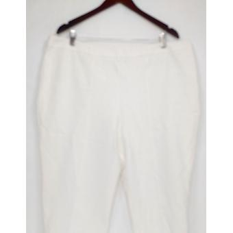 Joan Rivers Classics Collection Women's Petite Pants 2XP Ankle White A300847