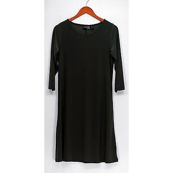 Attitudes By Renee Dress 3/4 Sleeve Liquid Knit Scoop Neck Green A308328