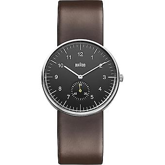 Braun classic gent small second watch for Japanese Quartz Analog Man with BN0024BKBRG Synthetic Leather Bracelet
