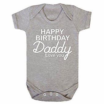 Hyvää syntymä päivää Daddy Grey lyhythihainen babygrow