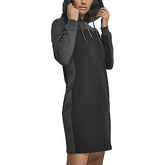 Urban Classics Ladies - 2-Tone Hooded Dress Black