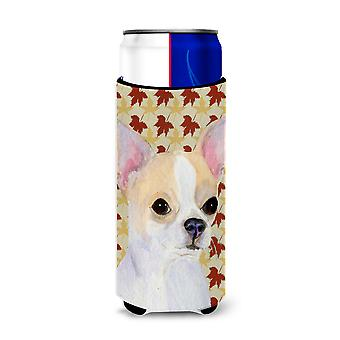Chihuahua Fall Leaves Portrait Ultra Beverage Insulators for slim cans SS4382MUK