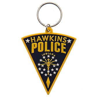 Stranger Things PVC nyckelring Hawkins polis