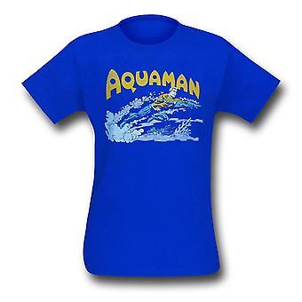 Aquaman retro uida sininen T-paita