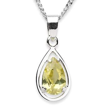 InCollections 5450200028401 - Chain with children's pendant with cubic zirconia - silver sterling 925