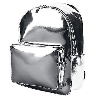 الحضرية الكلاسيكية ميدي المعدنية حزمة الظهر حقيبة الظهر - 28 سم - 8 لتر - الفضة