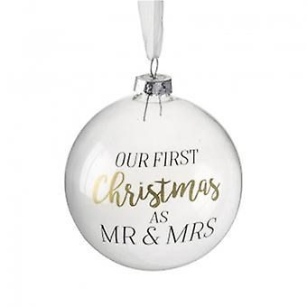 Heaven Sends Mr & Mrs First Christmas Bauble | Handpicked Gifts