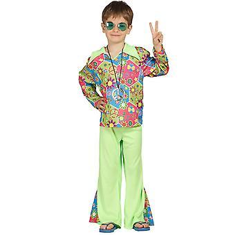 Boys Hippy Fancy Dress Costume 60s 70s