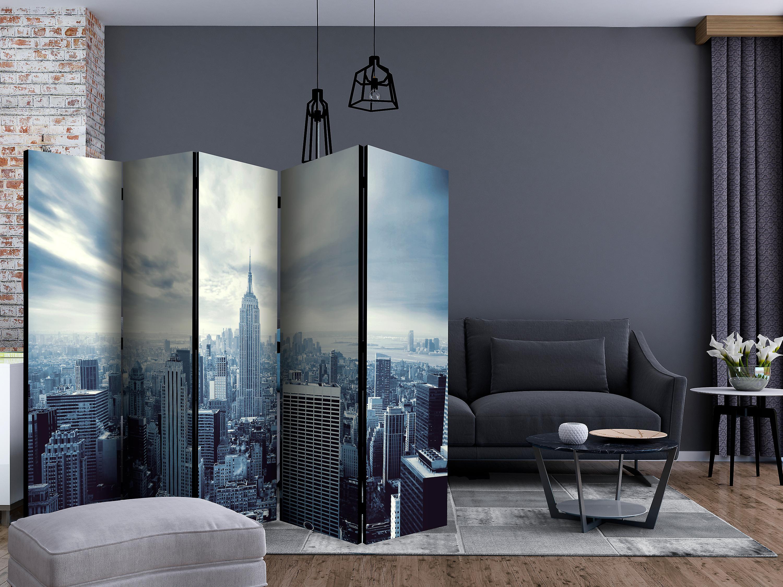 Paravent 5 volets - Blue York [Room Dividers]