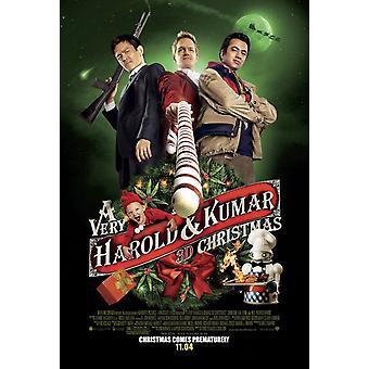 A Very Harold and Kumar Christmas Poster Double Sided Regular (2011) Original Cinema Poster (2011)
