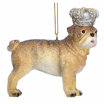 Gisela Graham Resin Bulldog with Crown Decoration|Handpicked Gifts
