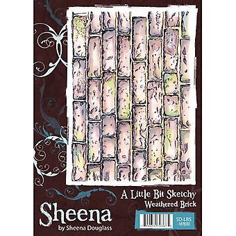 Sheena Douglass A Little Bit Sketchy A6 Rubber Stamp Set - Weathered Brick