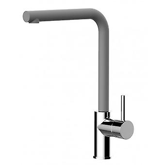 Kitchen Single-lever Sink Mixer With High Swivel 360MD Spout - Quartz Grey - 394