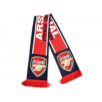 Arsenal FC Pride Of London Jacquard Knit Scarf