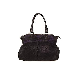 Banned Black & Purple To The Wire Handbag