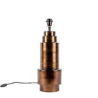 QAZQA Art Deco table lamp bronze without shade - Bruut