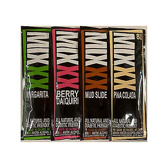 Mixxx Zero Calorie All Natural Variety Pack (4 Flavors) - Powder Cocktail Mixers, 8 Servings ea