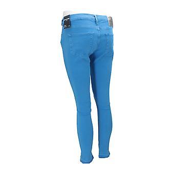 True Religion HALLE CROP FRENCH BLUE Women's Jeans Blue NEW Pants