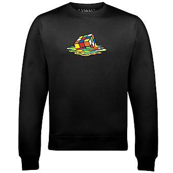 Men's schmelzen rubik's Würfel Sweatshirt