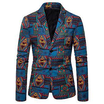 Allthemen Men's Folk-Custom Cotton Blend Slim Fit Suit Jacket