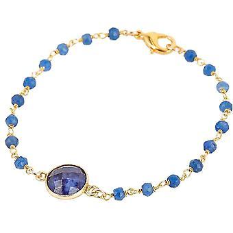 Gemshine Armband mit tiefblauen Saphir Edelsteinen in 925 Silber oder vergoldet