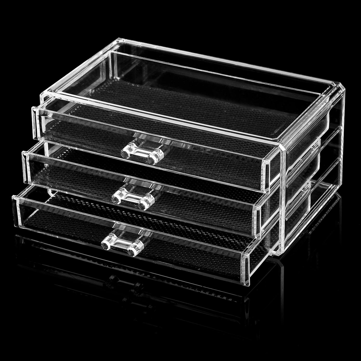 TRIXES Clear Acrylic Desk Cosmetic Lipstick Makeup Holder Brushes Mascara Organiser