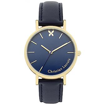 Uhr Christian Lacroix Uhren CLFH1810 - Armbanduhr Leder Navy Frau