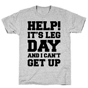 Aide c'est le jour de la jambe et je ne peux pas me lever t-shirt