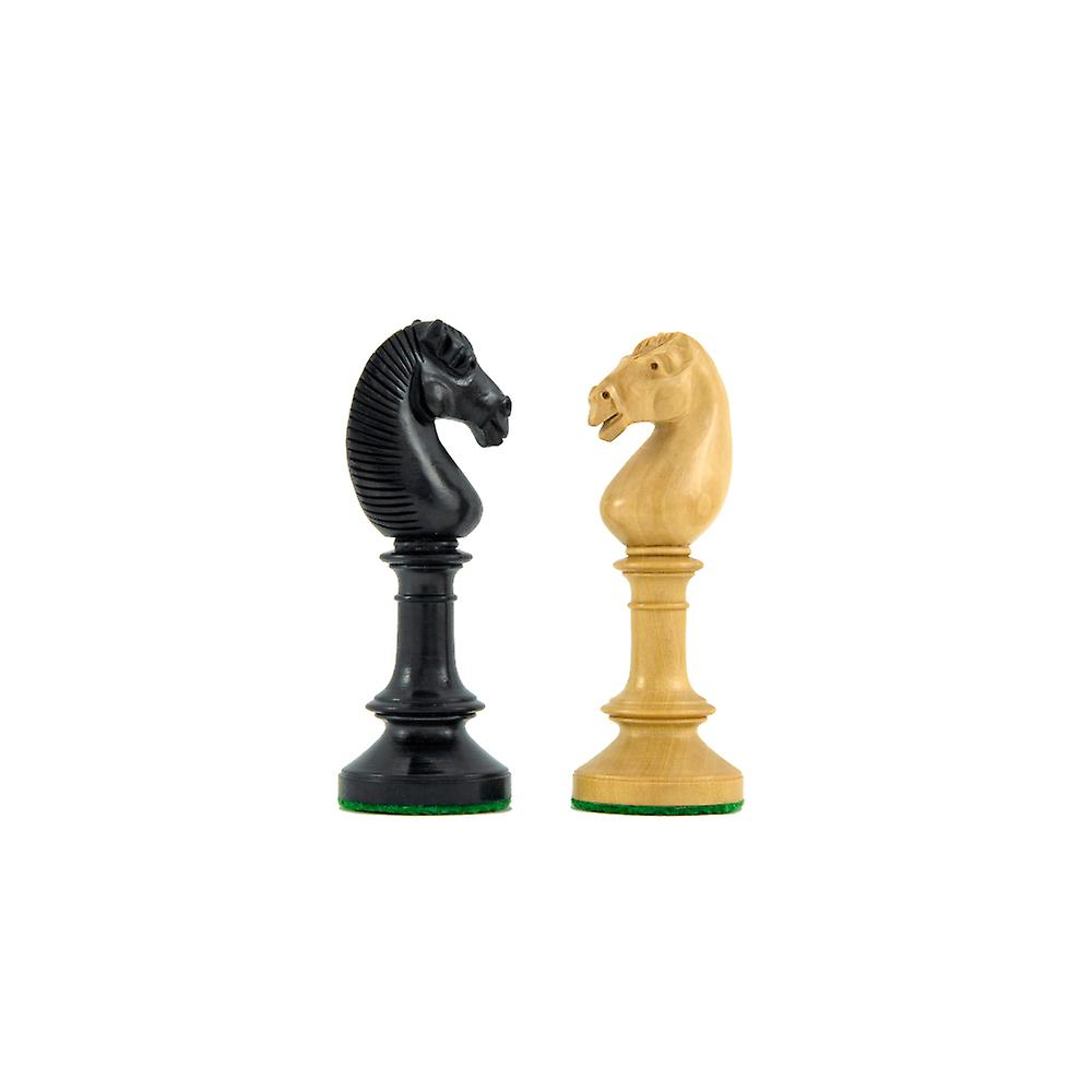 Northern Upright Ebony and Boxwood Chess Pieces 3.75 Inches