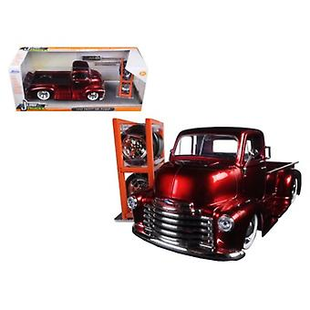 1952 Chevrolet COE Pickup Truck Red \Just Trucks\ with Extra Wheels 1/24 Diecast Model by Jada
