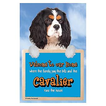 Faithful Friends Collectables Welcome 3d Hang-up Cavalier (tri-colour)
