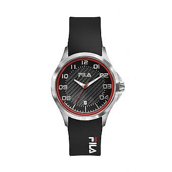Watch Fila 38-088-101 - Black Silicone Dateur Watch 40 mm Men