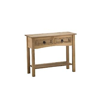CORONA 2 DRAWER WITH SHELF CONSOLE TABLE
