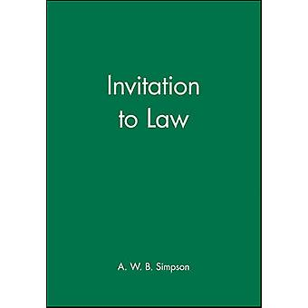 Invitation to Law door A.W.B. Simpson