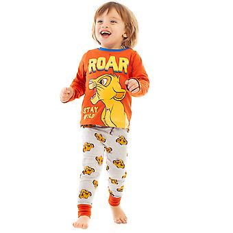 Disney Lion King Simba Roar Boys / Kids Red Pijamale lungi Sleepwear Set