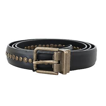 Dolce & Gabbana Zwart Lederen Bezaaid Riem