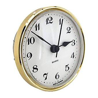 Clock movement quartz insertion arabic numerals Ø72mm white dial
