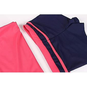 JerrisApparel Little Girls' Summer Two, Watermelon Red, Size 5-6/Tag Size L