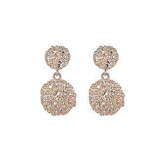 Textured Gold Drop Ball Earrings