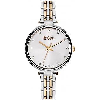 Shows Lee Cooper-LC06329-530 - steel two-tone Silver Dial white woman Dor