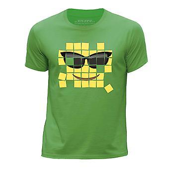 STUFF4 Chłopca rundy szyi koszulka/stary mozaika/Cool emotikon/zielony