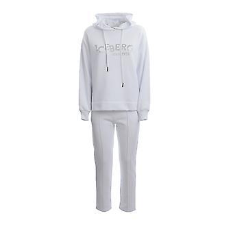 Eisberg E04163021101 Damen's weiß Baumwolle Jumpsuit
