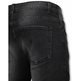 Basic Jeans - Biker Tapered Fit - Zwart