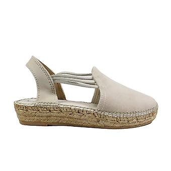 Toni Pons Nuria Stone Suede Leather Womens Pull On Espadrille Shoes
