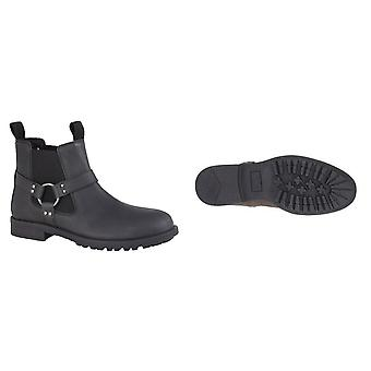 Roamers Mens couro Twin gusset ankle boot
