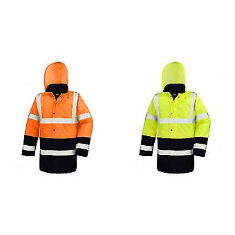 Result Adults Unisex Core Motorway Two Tone Safety Jacket