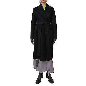 Acne Studios A90185900 Women's Black Wool Coat